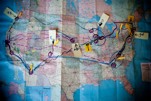 Farm Together Now research travel routes